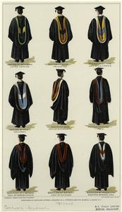 [Academic robes from universities in the United States.]