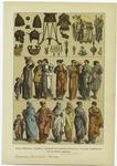 Edad Antigua--Cascos Y Objectos De Adorno Etruscos Y Trajes Femeniles De La Época Romana.
