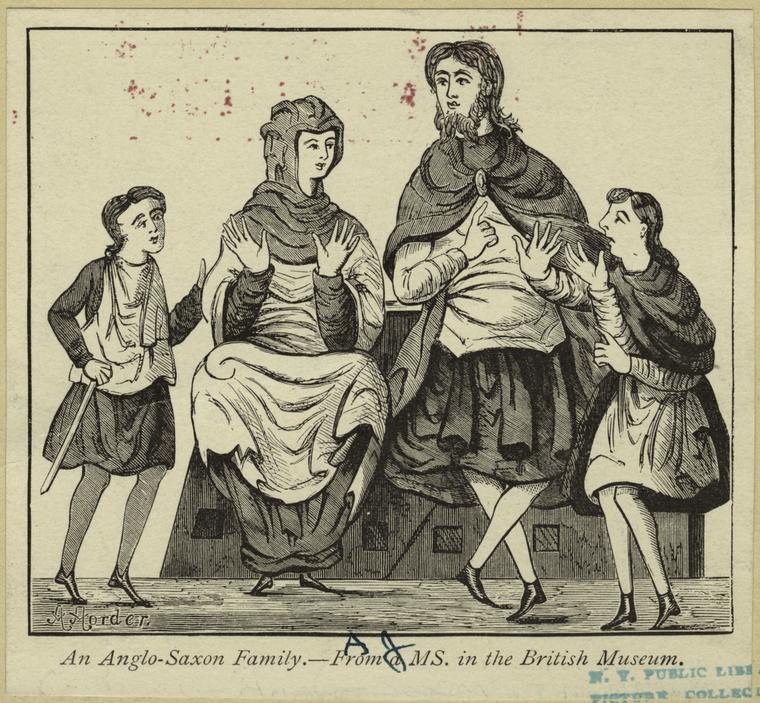 An Anglo-Saxon family.