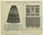 Russian apron, with detai