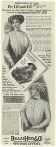 [Advertisement for women's blouses, 1910.]