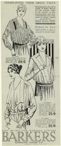 [Advertisement for women's blouse, 1918.]