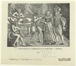 Deutsche Karikatur Auf Die Múhlsteinkragen Und Die Spanische Mode.  17. Jahrhundert.