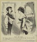Woman In A Low Cut Gown Talking To A Man Without A Suit Coat.