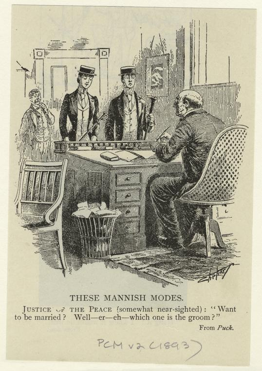 These mannish modes.