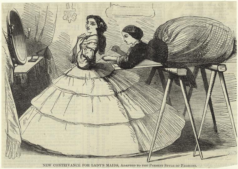 Кринолины середины 19 века