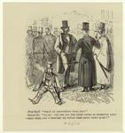 Men In Top Hats And Coats Conversing, 19th Century.