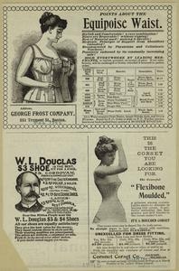 Points about the equipoise waist ; This is the corset you are looking for ; W. L. Douglas $3 shoe is the best.