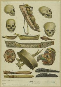 [Mandan Indian artifacts, 1830s.]