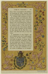 [Floral border design with coat of arms.]