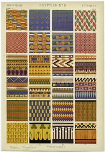 [Egyptian patterns.]