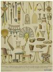 Egyptian Military Standards, Weapons, Water Vessels, Rings, Sandals, Mirror, Musical Instruments, Furniture, And Jewelry.