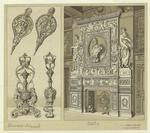 Fireplace, Bellows, And Andirons.