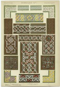 [Interlaced ornaments from the Alhambra.]