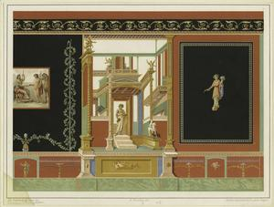 [Wall painting design, Pompeii, Italy.]