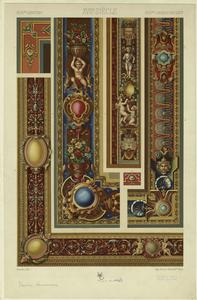 [Renaissance border designs.]
