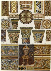 French Romanesque mural painting.