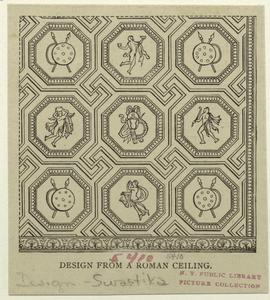 Design from a Roman ceiling.