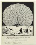Cartoon Depicting An Insect Looking At At Peacock.