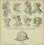 Ladies' head-dresses of the sixteenth century ; Coursing-hat.