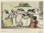 Englische Karikatur Von Thomas Rowlandson Auf Die Mode Der Großen Damenhüte, 1786.