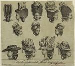 Twelve Fashionable Head-Dresses Of 1780.