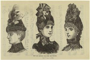 Hat and bonnets for fall and winter.
