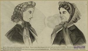 [Women wearing bonnets, 19th century.]