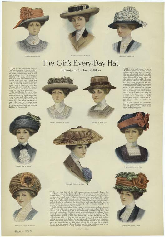 The girl's every-day hat.