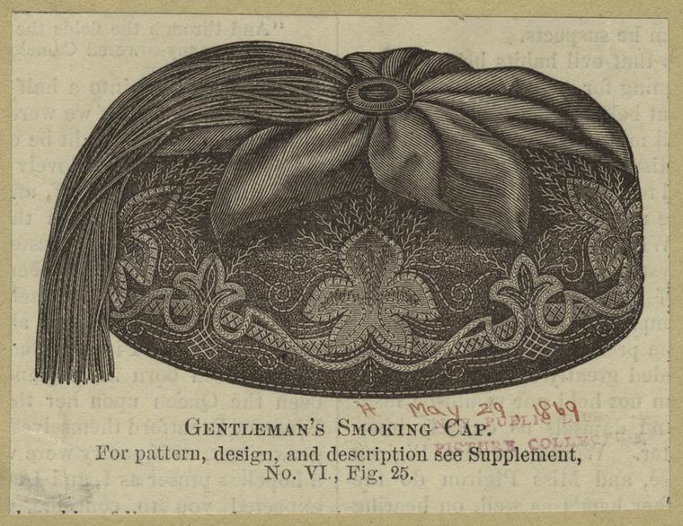 Gentleman's smoking cap.
