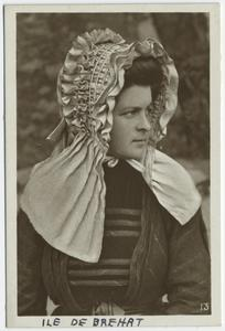 [Woman in regional dress, Bréhat Island, France.]