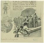 Men Playing Instruments Under An Umbrella.