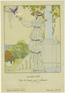 Le bel été, robe de lingerie pour la campagne.