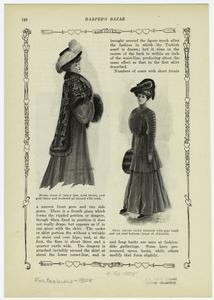 [Women in dresses with fur trimmed capes, hats, and muffs, ca. 1908.]