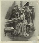 [Women fitting gloves.]