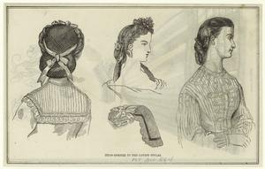 Head-dresses in the latest sty... Digital ID: 825043. New York Public Library