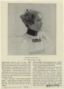 Miss Clara Louise Foraker.