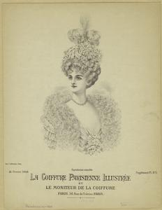 [Woman with elaborate Parisian hairstyle, ca. 1908.]