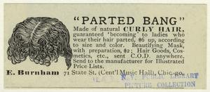 """Parted bang"" made of natural curly hair."