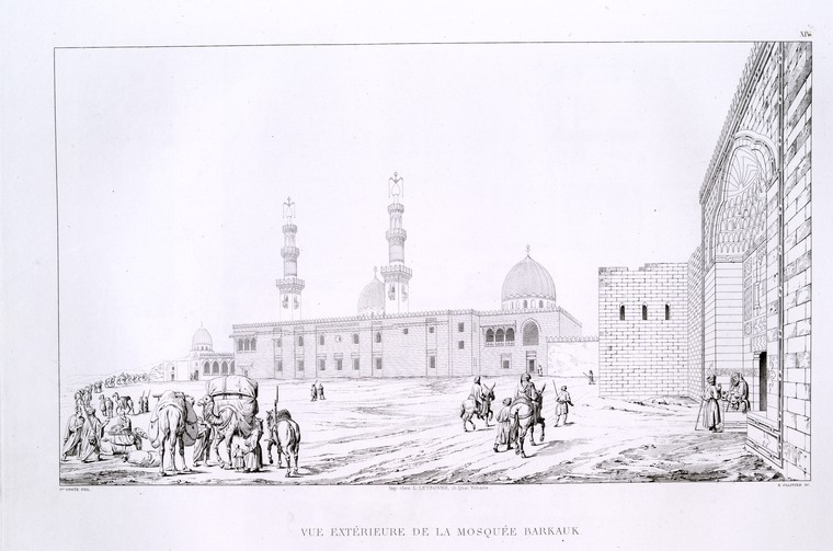 Fascinating Historical Picture of Sultan of Egypt Barquq in 1839