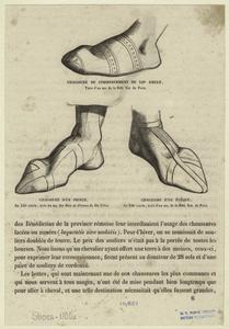 Chaussure du commencement du XIIe siècle ; Chaussure d'un prince ; Chaussure d'un évêque.