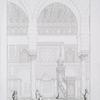 Vue de la niche du sanctuaire et de la chaire de la Mosquée El Moyed