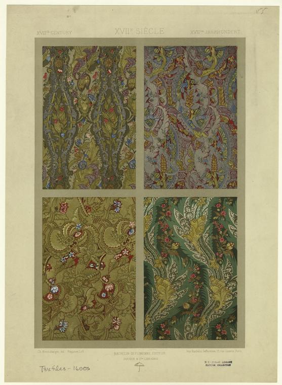 [Textile designs, 17th century.]