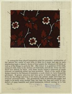[Calico swatch with floral pattern, 19th century.]