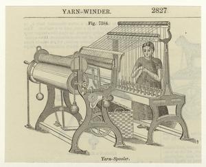Yarn-spooler.