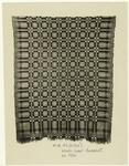Woven wool coverlet, ca.