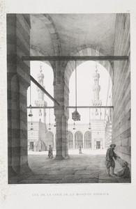 Vue de la cour de la Mosquée Barkauk
