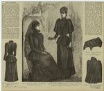 Back Of Mourning Dress ; Mourning Dress ; Crape-Trimmed Costume And Cape ; Widow'S Cap For Elderly Lady ; Back Of Wrap.