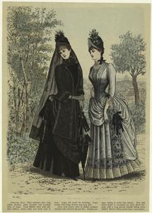[Women in dresses, 19th century.]