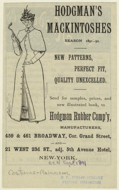 Hodgman's Macintoshes season 1891-1892.